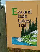 Eva and Jade Lakes trail